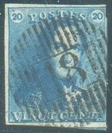 N°2 - Epaulette 20 Centimes Bleue, Obl. D.18 GHISTELLES Centrale Et Nette. - 14487 - 1849 Epaulettes
