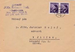 Böhmen Und Mähren  Brief Aus Budweis 1944 - Bohemia & Moravia