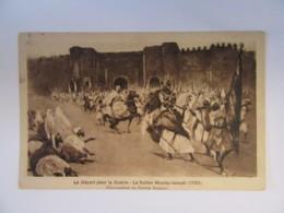 CPA Maroc - Départ Pour La Guerre - Sultan Moulay-Ismaël - Peintre ABASCAL - Timbre Mouchon Surchargé YT N°45 - 1922 - Peintures & Tableaux