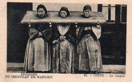 96Hs  Chine Femmes à La Cangue Chocolat Marlieu - Pubblicitari