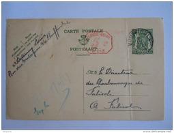 Belgique Entier Postal Staatswapen Sceau 35 + 5 Ct P013 1939 Bouffioulx -> Falisolle - Postcards [1934-51]