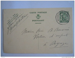 Belgique Entier Postal Staatswapen Sceau 35 Ct 1938 Neufchateau -> Deynze La Carrosserie Enfantine - Cartes Postales [1934-51]