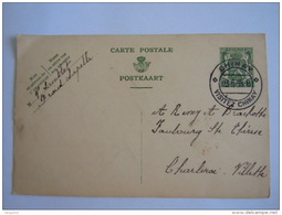 Belgique Entier Postal Staatswapen Sceau 35 Ct  1938 Chimay-> Charleroi - Villette - Stamped Stationery