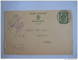 Belgique Entier Postal Staatswapen Sceau 35 Ct 1936 Bouillon -> Ciney - Postcards [1934-51]