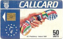 @+ Irlande - EC Presidency - Ireland 1990 - 50U - Puce Gem1A - Irlande