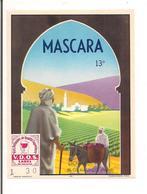 Etiquette Vin De Mascara - 13°- Dormigny à Maurois - Imp. Dehon - Décor  De Paysage Algérien - - Rotwein