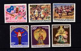 TRINIDAD  AND  TOBAGO    1968    Trinidad  Carnival    Set  Of  6    MH - Trinidad & Tobago (1962-...)