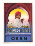 Etiquette Vin D'Oran  - 12°- Dormigny à Maurois - Imp. Dehon - Décor  De Femme Et Architecture  Algériennes  - - Rotwein
