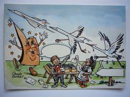 Avion / Airplane / AIR FRANCE / Concorde / Illustration : Claude Buret 1986 - 1946-....: Ere Moderne