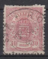 LUXEMBURG - Michel - 1880 - Nr 44 B - Gest/Obl/Us - 1859-1880 Coat Of Arms