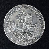 """Très Beau Jeton Religieux Argent Début XIXe """"Saint Georges Terrassant Le Dragon"""" Silver Religious Token - S. George - Royaux / De Noblesse"""