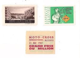 3 Vignettes: Moto Cross Mayenne 21/5/1961 - FNAIM Brest 10/6/1966 - Concours Musique Lorient 9/6/1962 - - Organizations
