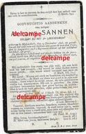 Oorlog Guerre Alfons Sannen Molenstede Soldaat Gesneuveld Te Zuidchote Boezinge Augustus 1915 Begraven Te Reninge - Imágenes Religiosas
