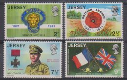 Jersey 1971 British Legion 4v ** Mnh (43836G) - Jersey