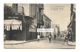 La Goulette, Tunisia - La Rue Saint-Cyprien Et La Caserne - Old Postcard - Tunisia
