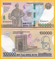Uzbekistan 100000 (100,000) Sum P-new 2019 UNC Banknote - Uzbekistan