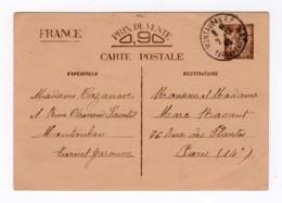 Entier Postal Type Iris 1940 Sans Valeur - Entiers Postaux