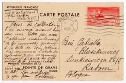 Entier Postal 1938 Mémorial Américain Pointe De Grave 1f Rouge YT 13, Oblitération Du 3 Septembre 1938 - Biglietto Postale