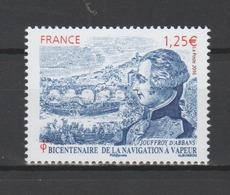 FRANCE / 2016 / Y&T N° 5044 ** : Jouffroy D'Abbans - Navigation à Vapeur X 1 - Gomme D'origine Intacte - France