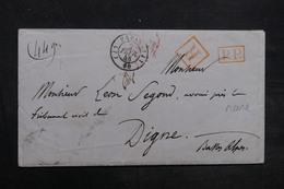 FRANCE - Enveloppe En Recommandé De Paris En 1848 Pour Digne - L 36654 - Marcophilie (Lettres)