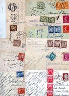 TIMBRES TAXES......LOT DE 22 SUR CPA.....VOIR SCAN......LOT 14 - 1859-1955 Lettres & Documents