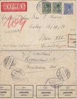 Niederlande - Amsterdam 1910 L1 Brievenbus Expressbrief N. ÖSTERREICH 1938 - Niederlande