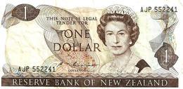 NEW ZEALAND $1 JAMES COOK WMK 2ND ISSUE HEAD OF QEII BIRD BACK ND(1985-89) SIGN RUSSEL  P.169b W. 1992 READ DESCRIPTION - Nieuw-Zeeland