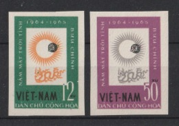 1964 Vietnam Del Nord Anno Internazionale Del Sole Set Imperforate** -V34 - Vietnam