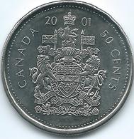 Canada - Elizabeth II - 50 Cents - 2001 P - KM290b - Canada