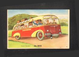 France - 01 - Carte à Système -Joyeux Souvenir De Gex - Autobus - Gex