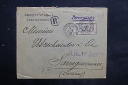 LEVANT FRANÇAIS - Type Merson Perforé Sur Enveloppe Commerciale En Recommandé De Constantinople En 1907 - L 36659 - Levant (1885-1946)