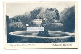Deutsch-Sud-West-Afrika - Park Am Krieger-Denkmal, Windhuk, Windhoek, Namibia - Early Postcard - Namibië