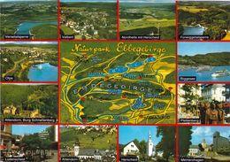 1 Map Of Germany * 1 Ansichtskarte Mit Der Landkarte - Der Naturpark Ebbegebirge Mit Seiner Schönen Umgebung * - Landkarten