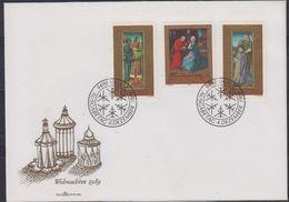 Liechtenstein 1989 Christmas 3v FDC (43837) - FDC