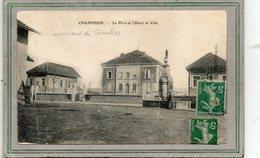 CPA - Environs De CORCELLES (01) - CHAMPDOR - Aspect De La Fontaine Et De La Place De L'Hôtel De Ville En 1908 - Autres Communes