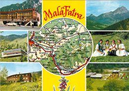 1 Map Of Slovakia * 1 Ansichtskarte Mit Der Landkarte Der Kleinen Fatra (slowakisch Malá Fatra) * - Landkarten