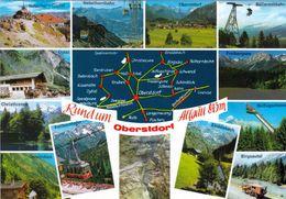 1 Map Of Germany * 1 Ansichtskarte Mit Der Landkarte - Rund Um Oberstdorf Im Allgäu * - Landkarten