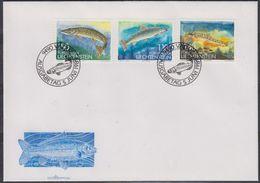 Liechtenstein 1989 Fish 3v FDC (43840) - FDC