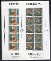 A S44 ) Free Shipping To // Gibraltar 1997: Fleet Sailboats Fairy Tales Legends Europe CEPT - Fairy Tales, Popular Stories & Legends