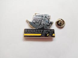 Superbe Pin's En Zamac , Auto Renault F1 , Formule 1 - Renault