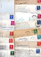 TIMBRE TYPE MULLER..GANDON...MOISSONNEUSES.......VOIR DETAIL...LOT DE 48 SUR CPSM.....VOIR SCAN......LOT 23 - 1955- Marianne De Muller