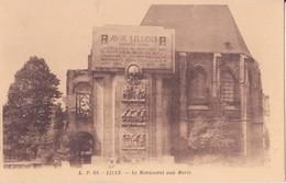 CPA - 69. LILLE Le Monument Aux Morts - Lille