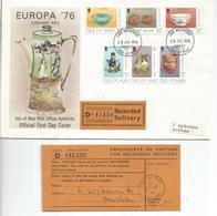 ISLE OF MAN CC CERTIFICADA EUROPA 1976 ARTESANIA POTTERY CERAMICA - Isla De Man