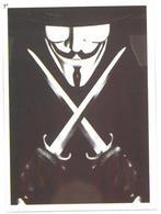 Adesivo Decalcomania Sticker Film V For Vendetta V Per Vendetta Diretto Da James McTeigue Dimensioni Cm 7x5 Circa - Adesivi