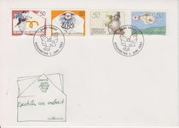 Liechtenstein 1992 Botschaften 4v FDC (43847) - FDC