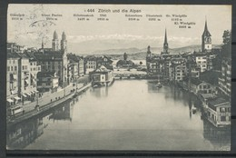 Ansichtskarten - Zürich Und Die Alpen - ZH Zürich