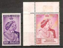 MALAYA - TRENGGANU 1948 SILVER WEDDING SET UNMOUNTED MINT Cat £26+ - Trengganu
