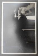 Photographie En Noir Et Blanc - Cliché A. David - La Souterraine - Exhibition Nocturne De Plongeon Par André Blaty - Persone Identificate