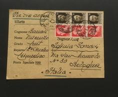 Guerra Spagna Cartolina Franchigia Posta Aerea 1939 - Guerra 1939-45