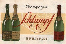 (119)  Petite Carte PUB  Epernay Champagne Schlumpf    13X9cm  (Bon Etat) - Epernay